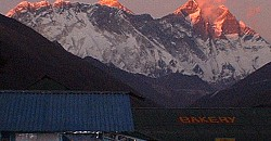 Everest sunset late from Tengboche